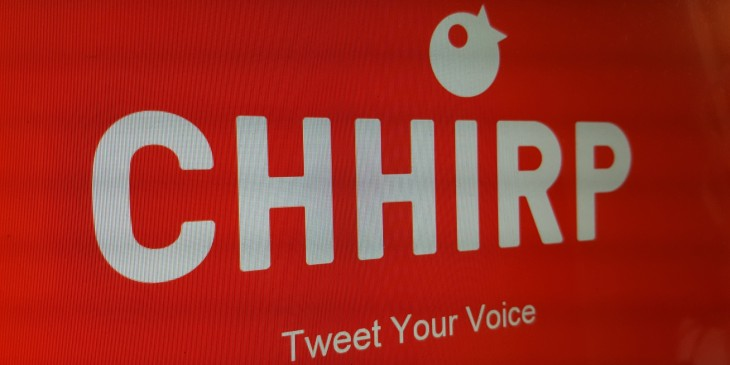 Chhirp for iOS lets you post 12-second voice clips directly to Twitter