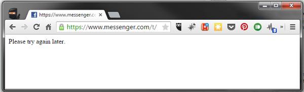 FB Messenger down