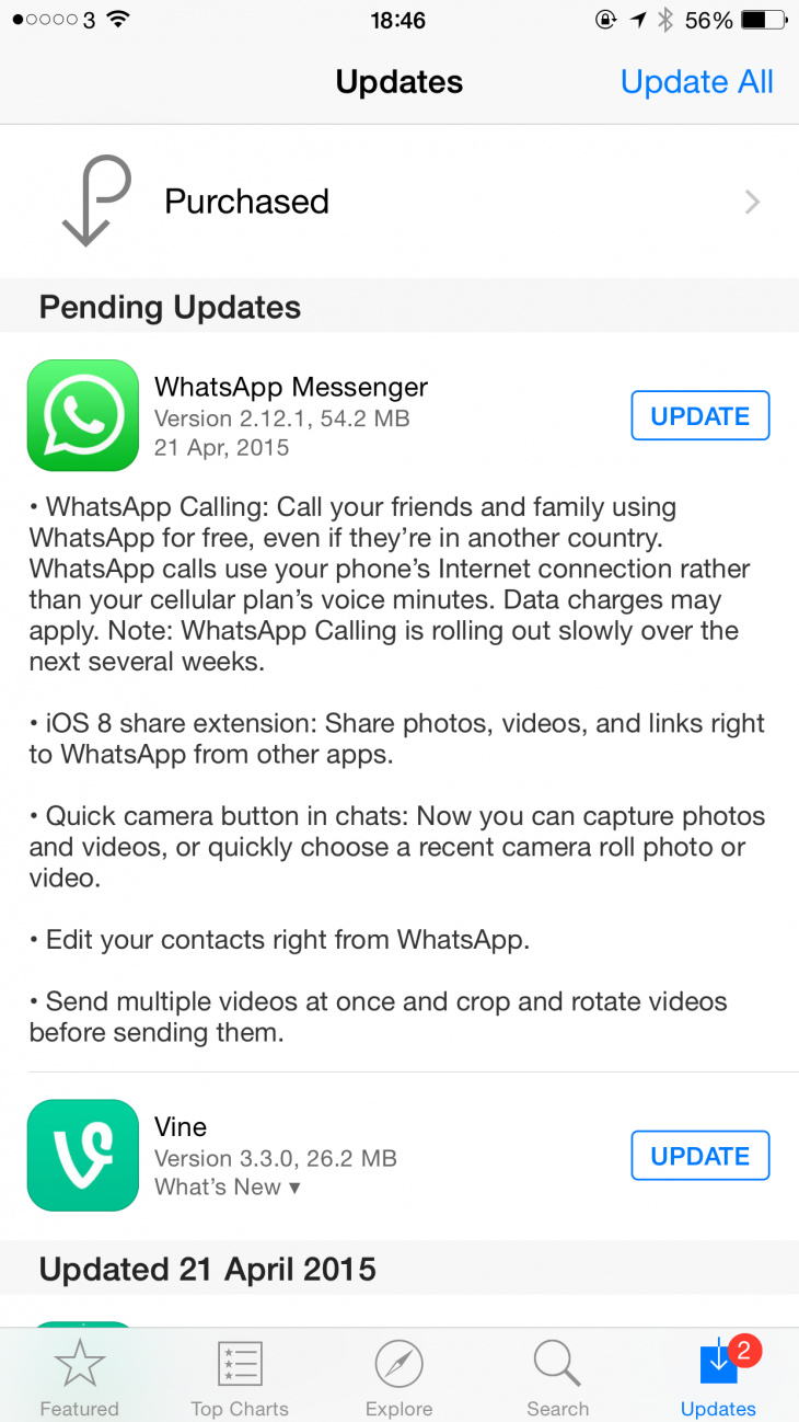 WhatsApp Starts Rolling Out Voice Calling on iOS