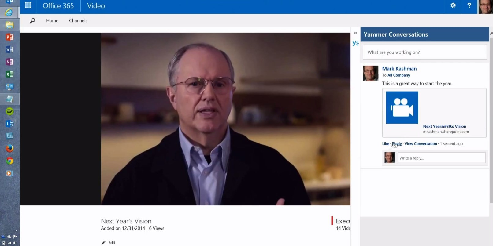 Microsoft Rolls Out Office 365 Video on Desktop and Mobile