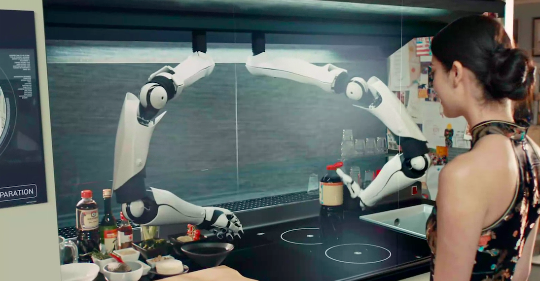 Robo chef is trained by the best and will cook your dinner for Robot cuisine chef