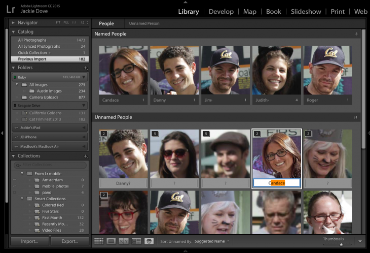 Lightroom 6 facial recognition