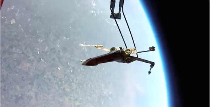 Hey JJ Abrams! Two guys from the UK just put an X-Wing into orbit