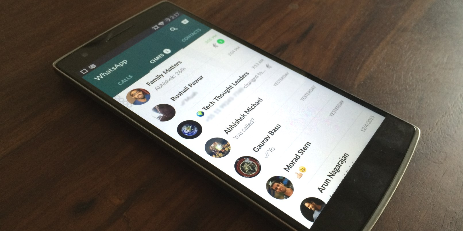 Whatsapp Gets a Material Design Update on Android