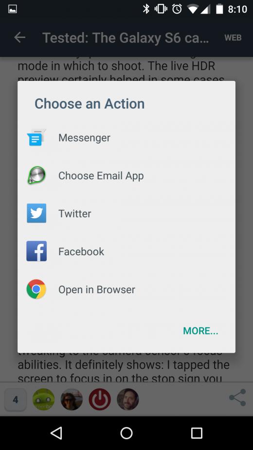 android sharing