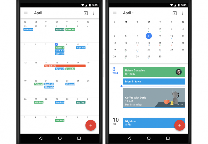 Android Calendar.Google Is Bringing Month View Back To Calendar For Android
