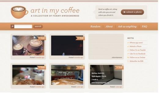 Art in my coffee Ivory website