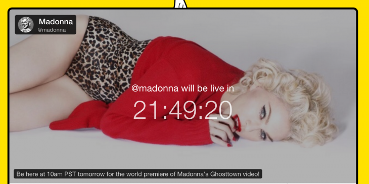 Madonna to premiere her new video on Meerkat, despite signing the Tidal declaration last week