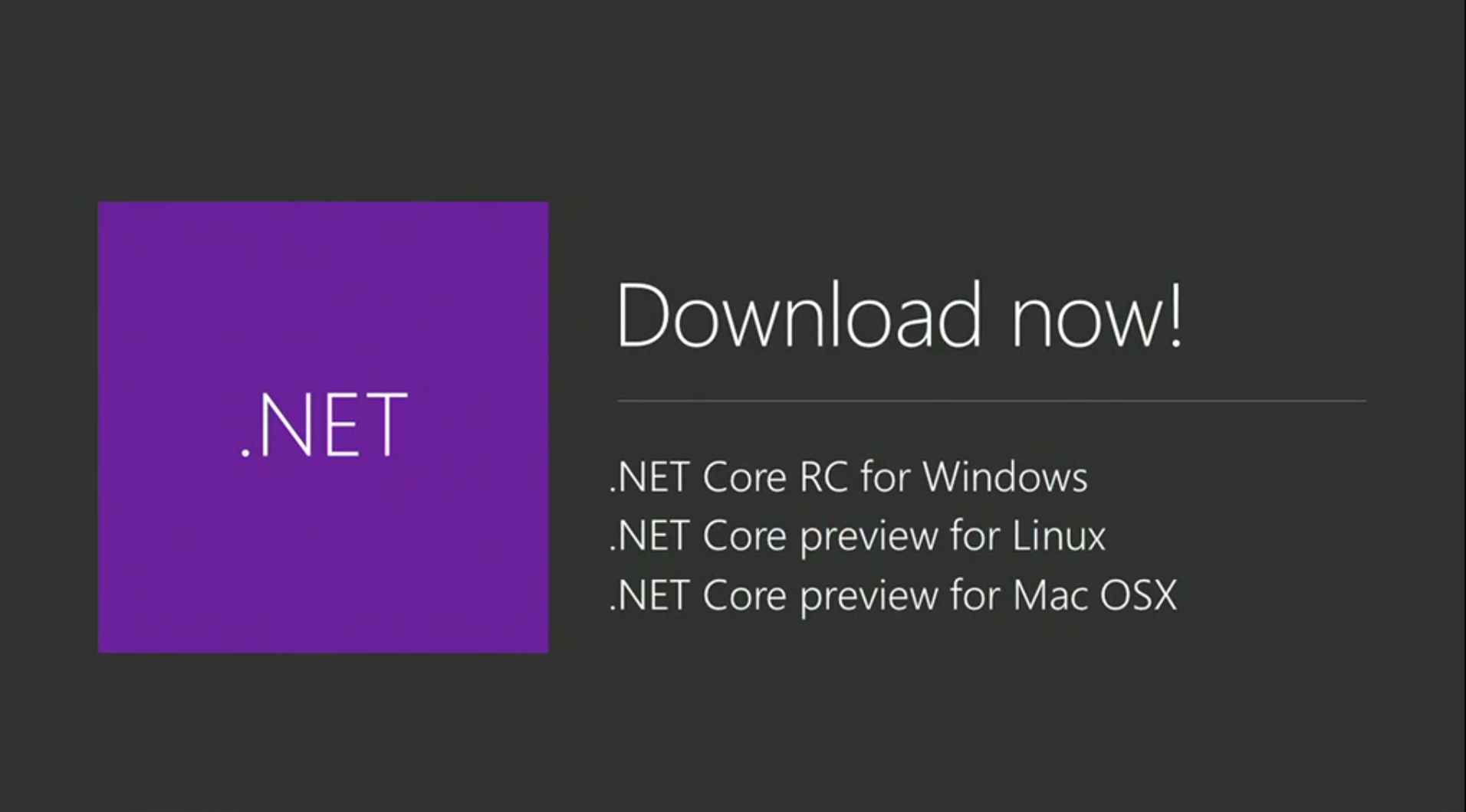 Microsoft .NET Core Preview Now Available for Mac and Linux