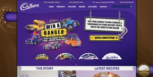 Cadbury Purple website
