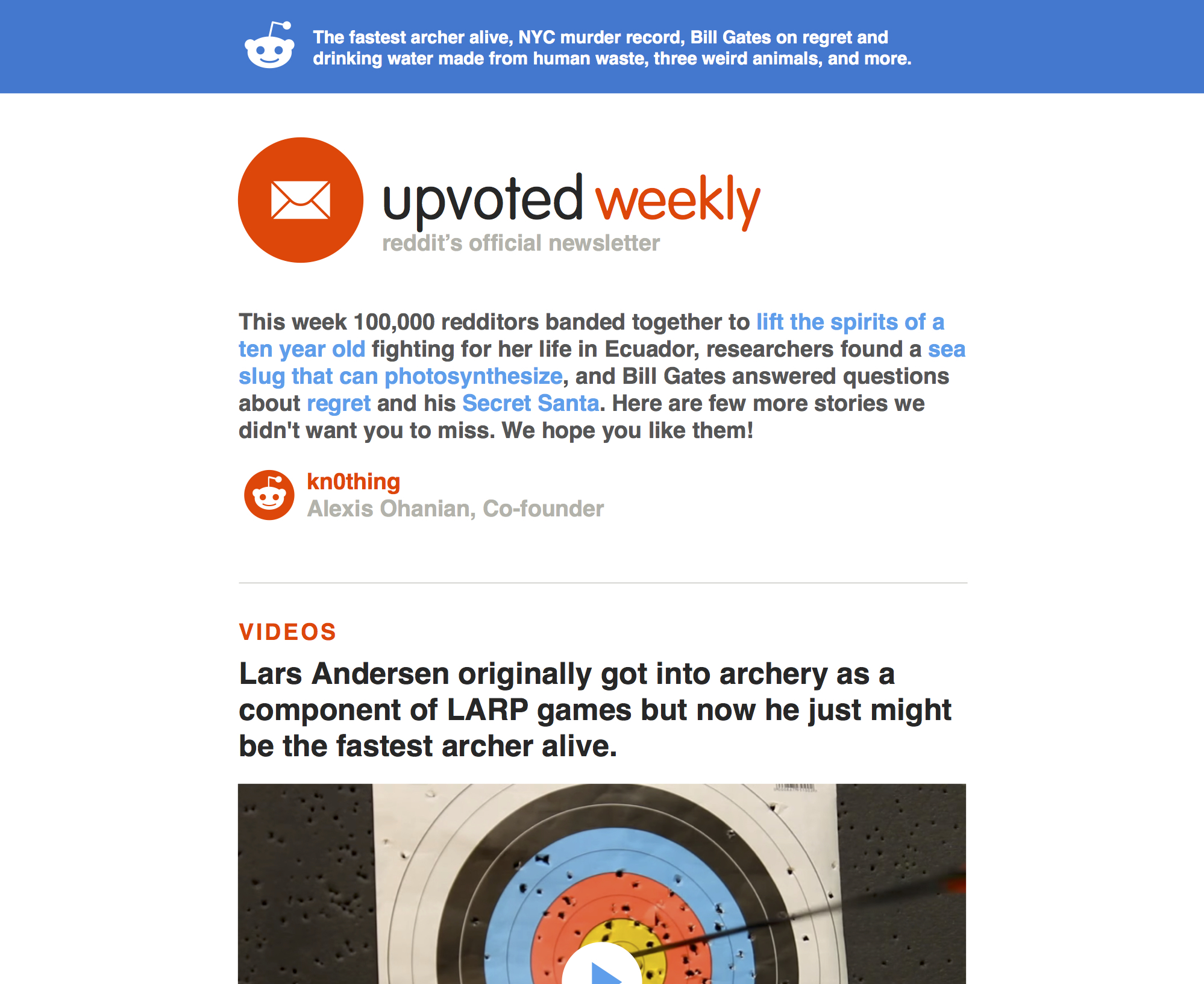Reddit Launches Upvoted Weekly Newsletter