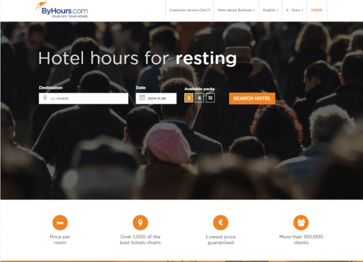 ByHours now lets 'business travellers' book a hotel room in London for 3, 6 or 12 hours