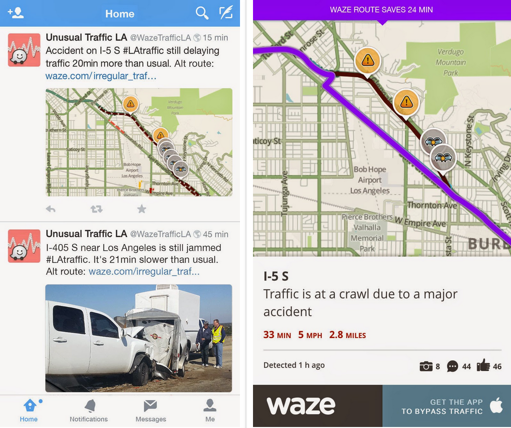 Waze Will Now Tweet Unusual Traffic Alerts