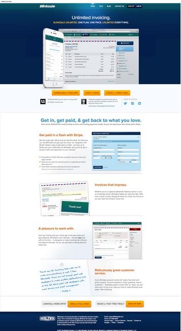 Blinksale website
