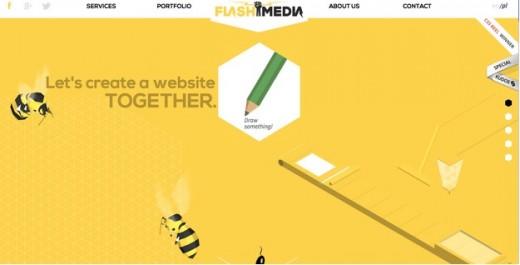 Flash MediaYellow website