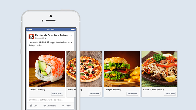 Facebook is bringing carousel ads to its mobile install links