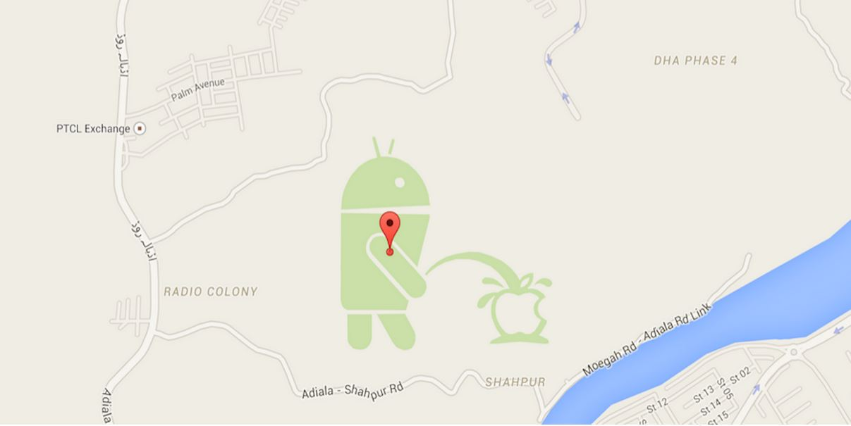 The peeing Android has forced Google to freeze its map editor