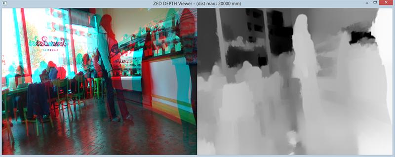 ZED stereo camera simulates human visual depth perception