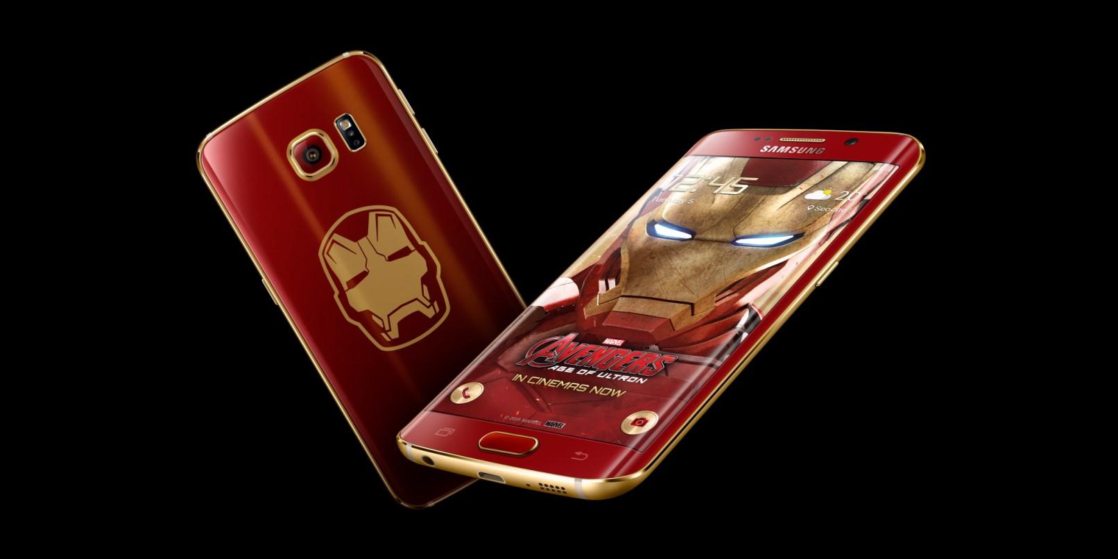 Marvel at Samsung's Galaxy S6 Edge Iron Man Limited Edition phone