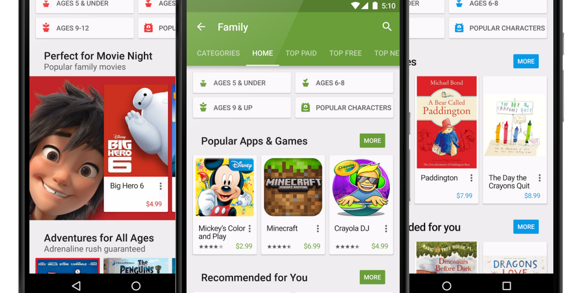 Google is making it easier to find family-friendly content on the Play Store