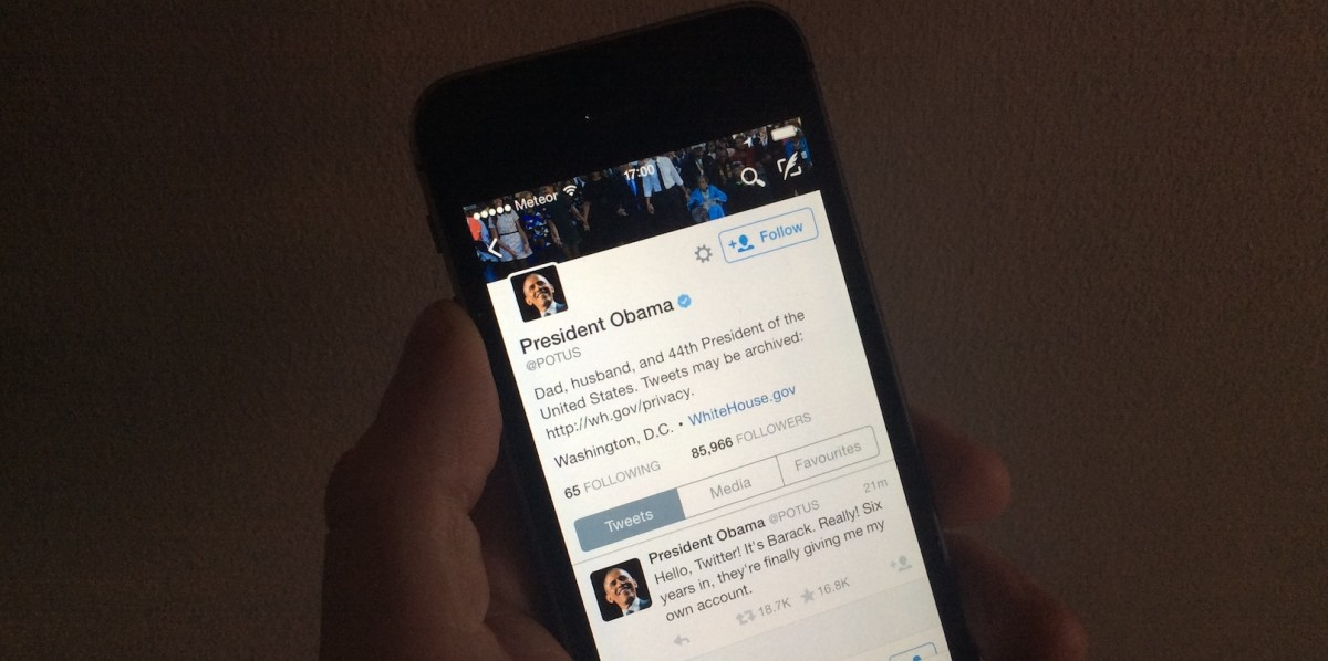 President Obama joins Twitter for real