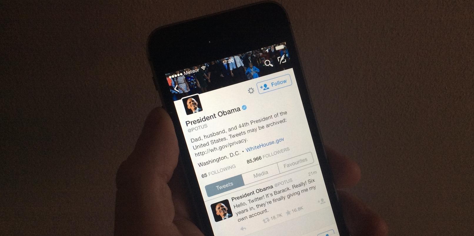 President Obama joins Twitter for real