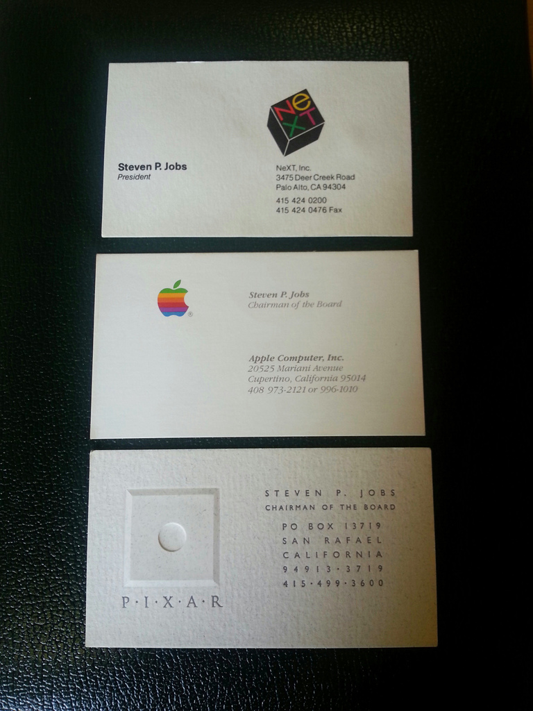 Got 3000 you could buy steve jobs business cards according to business insider the cards found their way into the schools possession via a family who did catering for jobs and kept hold of his contact colourmoves