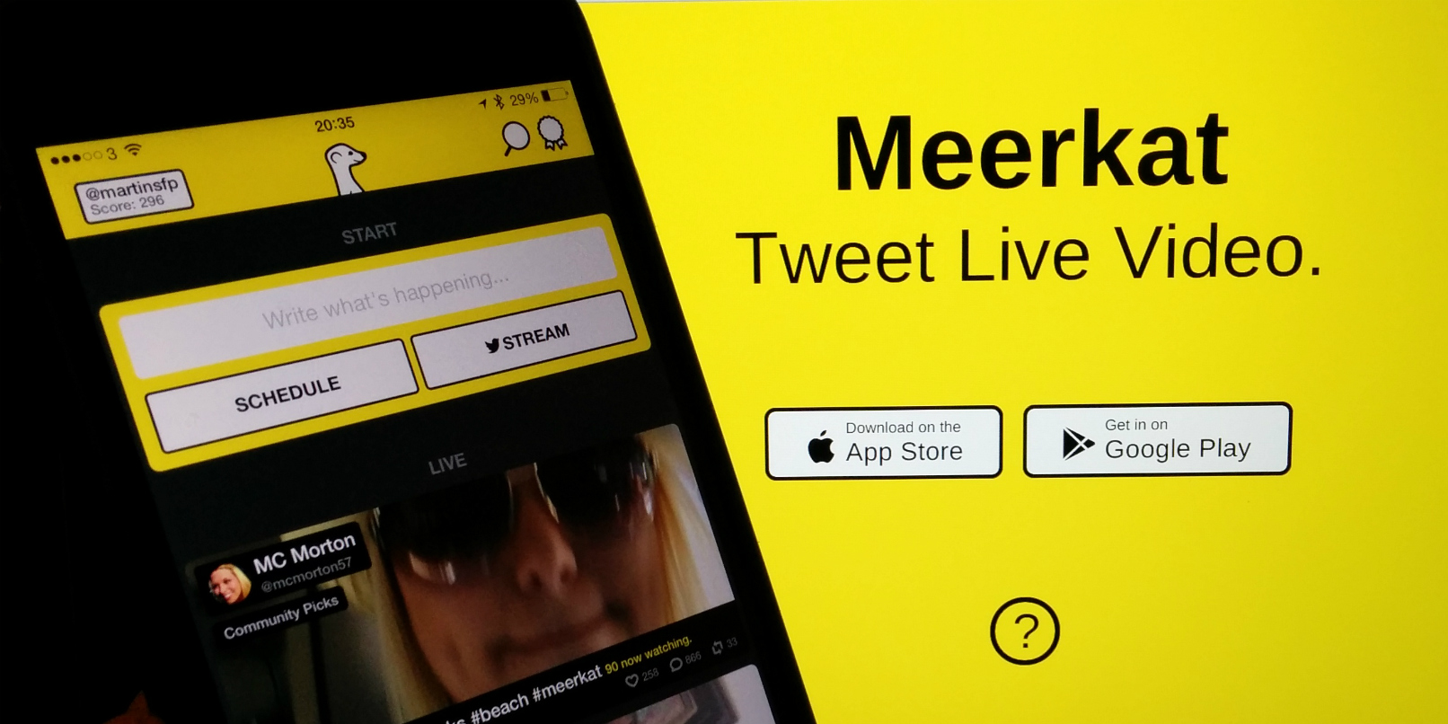 Meerkat for iOS Gets Facebook Stream Promotion, 'Mobbing'