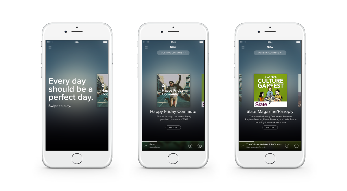 Spotify has an all new design, focused on finding the perfect playlist