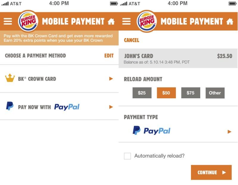 PayPal Burger King