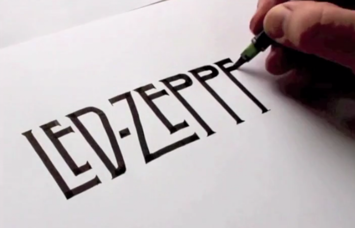 Watch this artist draw famous logos by hand
