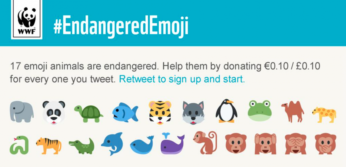 You can now tweet emoji to save endangered animals