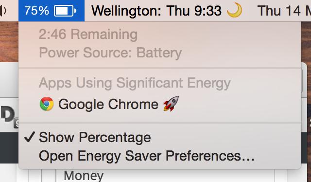 Chrome energy usage.