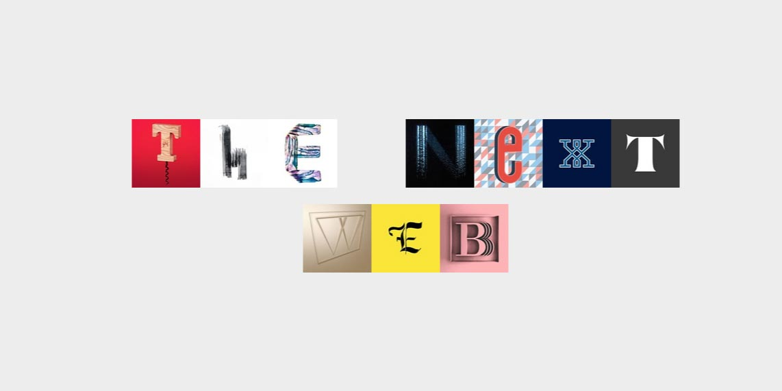 A font made out of Instagram images