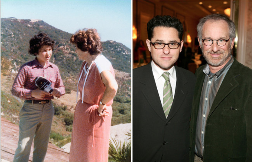 Left: Abrams Family, Right: Frazer Harrison/Getty Images for A.F.I. via NYTimes 2011