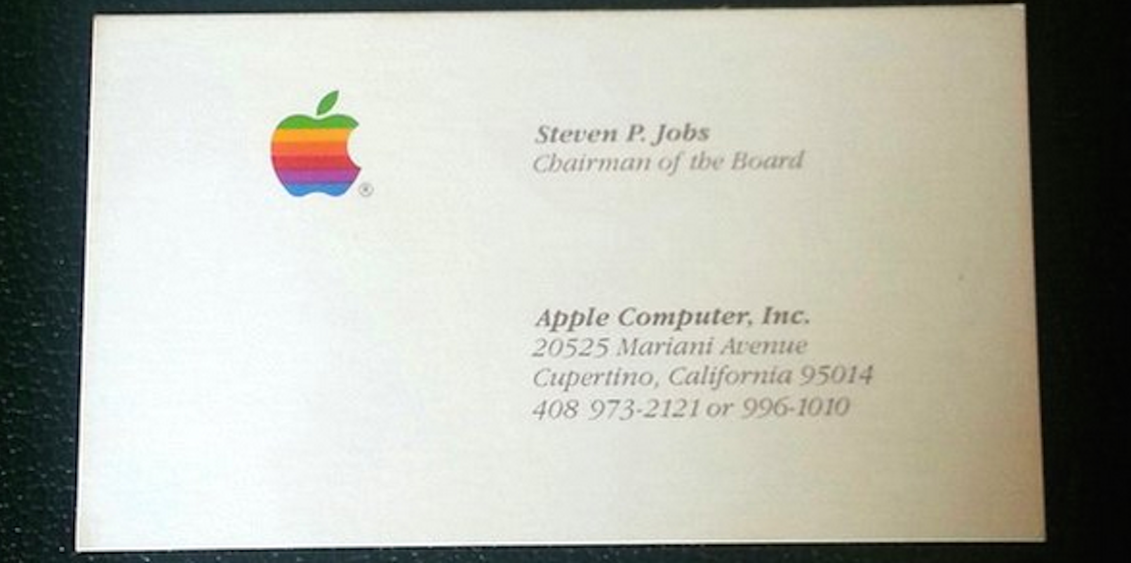 got 3000 you could buy steve jobs business cards