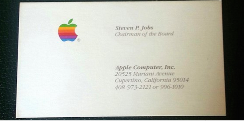 This Guy Spent 10 000 On Steve Jobs Old Business Cards