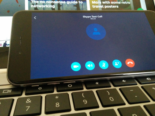 How I do Skype calls while using the Pixel