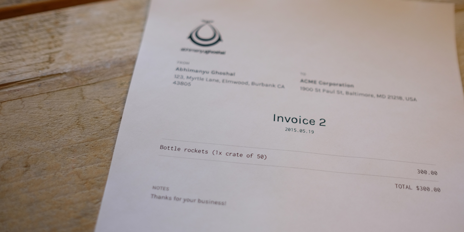 Slimvoice is a beautiful free tool for generating invoices