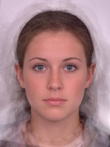 Average of 15 'attractive' female faces.