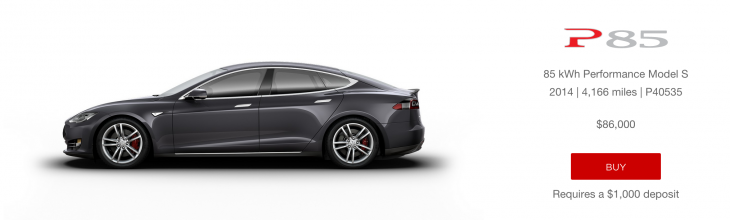 tesla launches an online marketplace to sell used model s. Black Bedroom Furniture Sets. Home Design Ideas