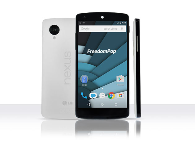 Get a Nexus 5 plus one year's unlimited talk-and-text from FreedomPop
