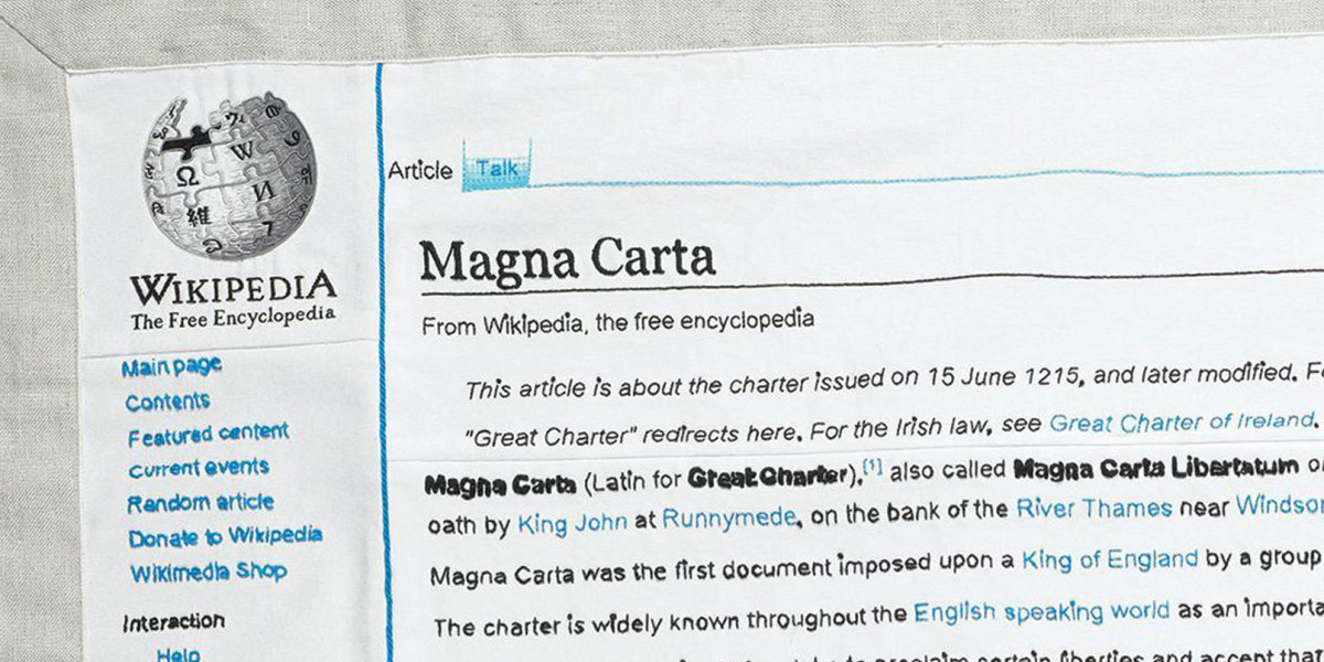 Wikipedia - Magna Carta Embroidery