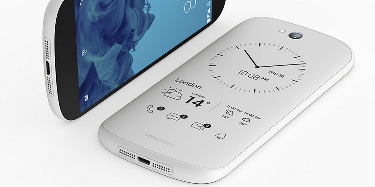 YotaPhone's white dual-screen, e-ink-packing smartphone brings a price drop and new widgets
