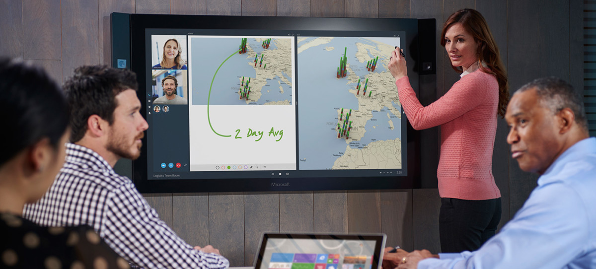 Microsoft's Surface Hub is ready for your conference room for $6,999 from July 1