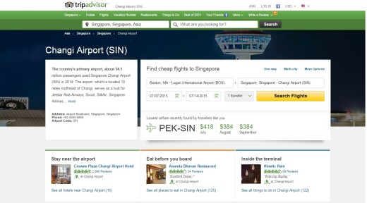 Changi Airport page