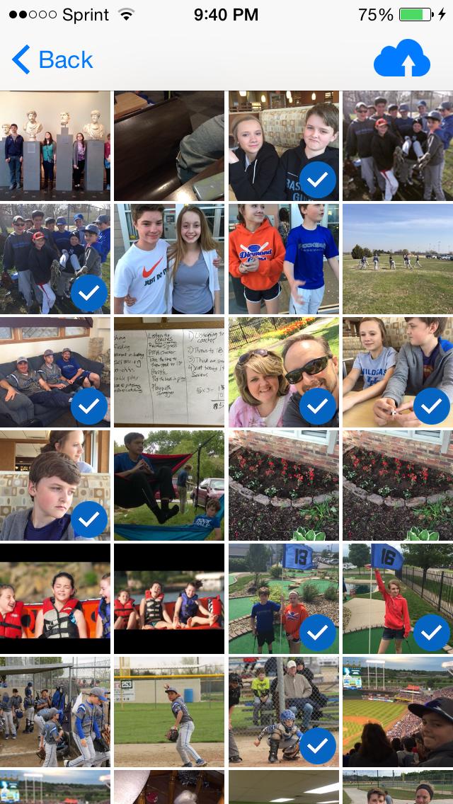 CloudSlice pics select