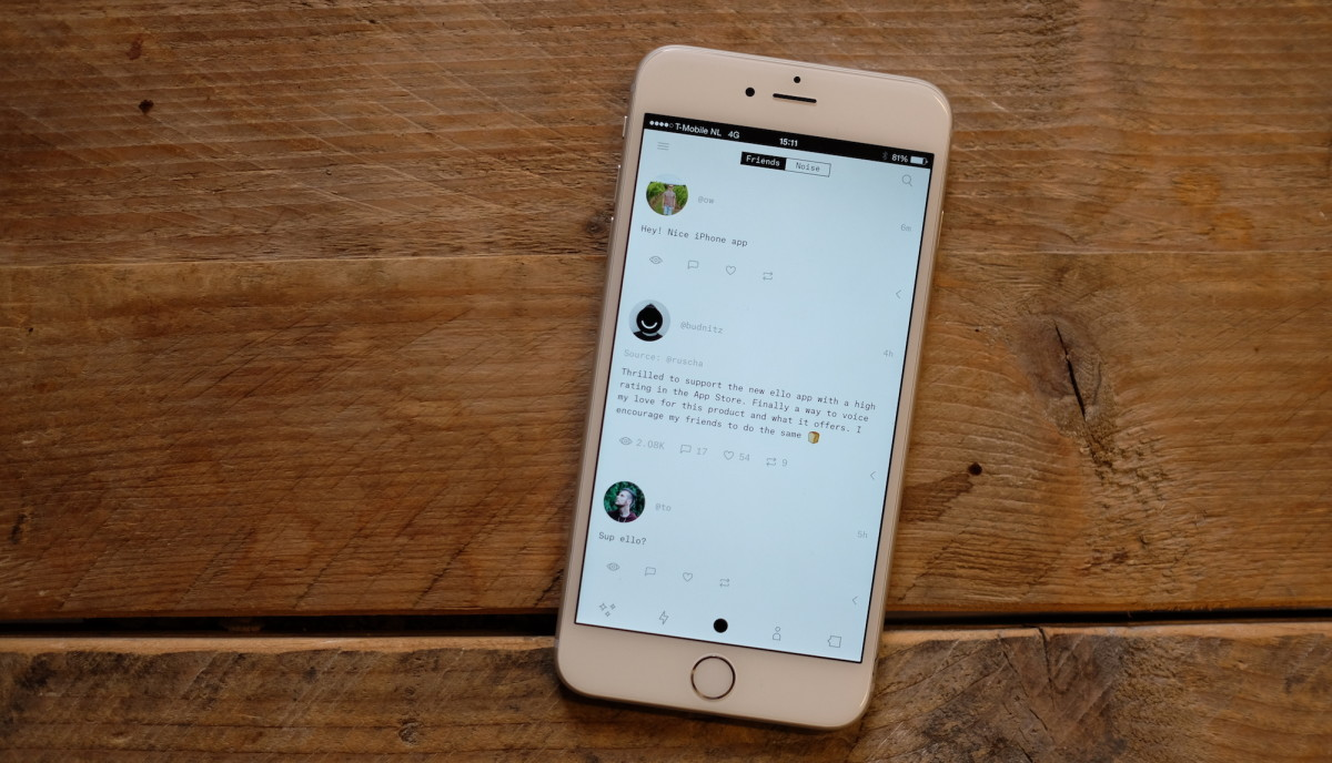 Remember Ello? It has an iPhone app now