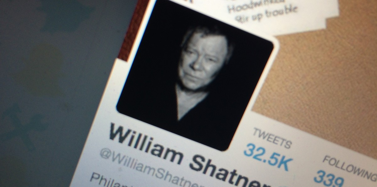 William Shatner has got his Snapchat name from the fantastic fan who registered it