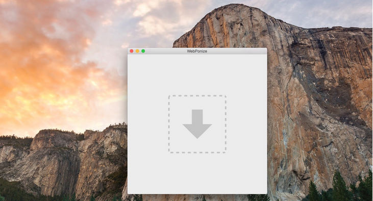 WebPonize for Mac automatically converts images into Google's WebP format
